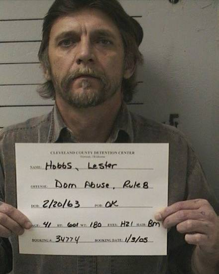 Pictured is Lester Hobbs from a previous arrest in 2005. Authorities are hoping someone who might recognize this older picture of Hobbs might know where he currently is. Photo courtesy Cleveland County Sheriff&#039;s Office