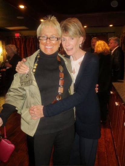 Judi Freyer and Marilyn Balyeat were at the party. (Photo by Helen Ford Wallace).