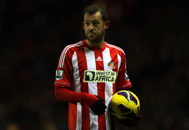 Sunderland's Steven Fletcher, is seen during their English Premier League soccer match against Reading at the Stadium of Light, Sunderland, England, Tuesday, Dec. 11, 2012. (AP Photo/Scott Heppell)