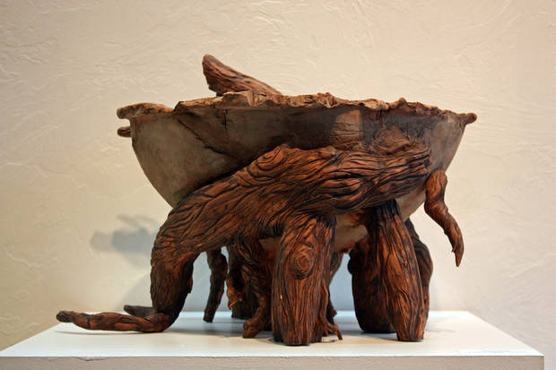 """Earthenware,"" a ceramic and acrylic mason stain by Alesa Clymer   Photo provided <strong>Photo provided</strong>"