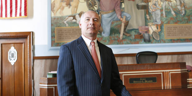 Defense attorney David Slane at the Oklahoma County Courthouse in Oklahoma City, Wednesday,  October 3, 2012. Photo By Steve Gooch, The Oklahoman