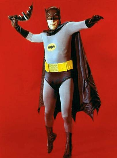 Adam West as Batman.