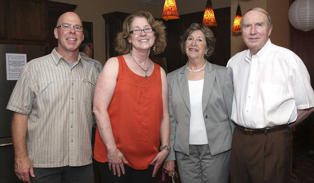 Brian Davis, Carole Kelley, Lela and Mark Sullivan.  PHOTOS BY DAVID FAYTINGER, FOR THE OKLAHOMAN