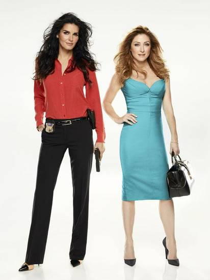 "From left, Angie Harmon and Sasha Alexander star in ""Rizzoli & Isles."" - Photo by James White/TNT Photo"