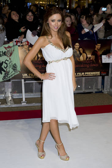 Irish singer Una Healy arrives for the UK premiere of 'Twilight Breaking Dawn Part 1' at a central London venue,  Wednesday, Nov. 16, 2011. (AP Photo/Jonathan Short) ORG XMIT: LJS111