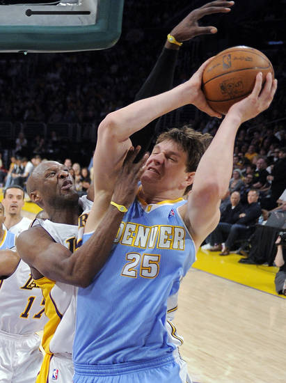 Center Timofey Mozgov: Played sparingly in 11 games after coming over in the New York trade. Mozgov averaged 2.5 points and 1.5 rebounds per game. (AP Photo/Mark J. Terrill)