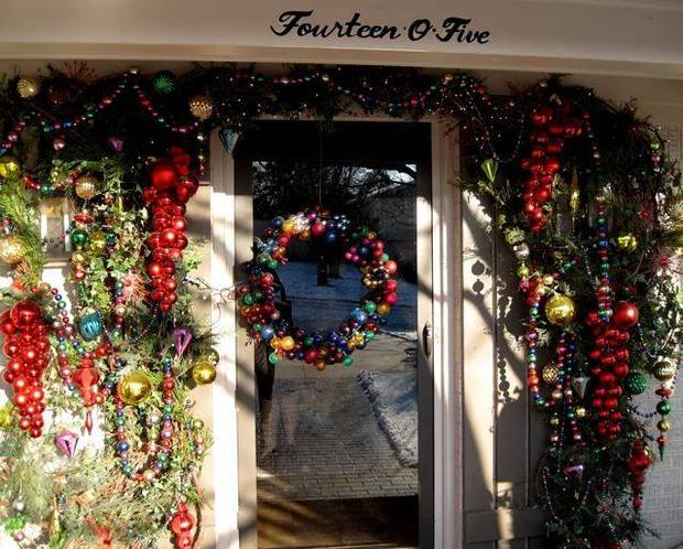 FRIENDS CELEBRATE JANUARY....Festive front door decorations. (Photo  by Helen Ford Wallace).