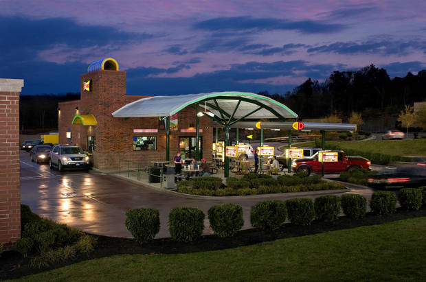 A modern Sonic drive-in is shown. The Oklahoma City-based restaurant company has been in business for 60 years. Photo provided <strong>DEANDIXONRevision]V7</strong>