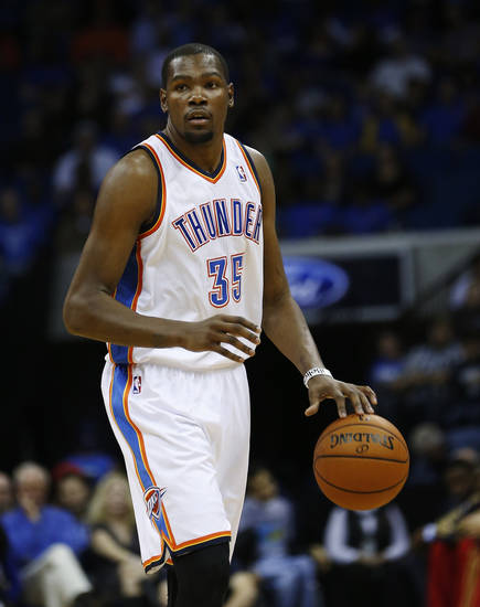 Most NBA general managers would like Kevin Durant shooting with the game on the line.  AP photo