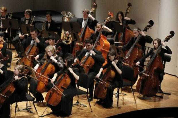 The Oklahoma Youth Orchestra performs its Winter Concert at Petree Recital Hall at Oklahoma City University on Sunday. PHOTOS BY GARETT FISBECK, FOR THE OKLAHOMAN