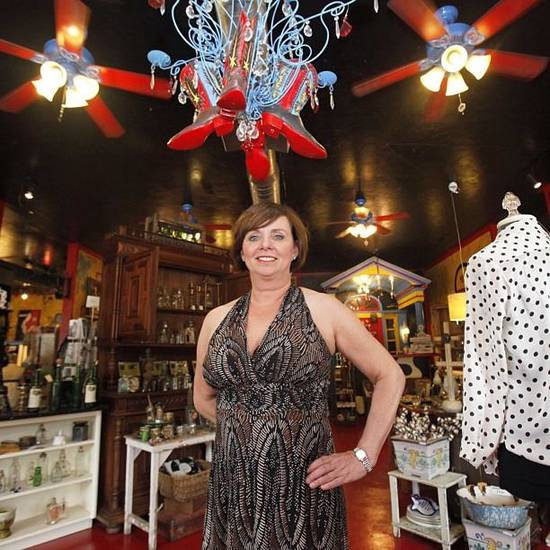Shelly Schaefer poses in her boutique, The French Cowgirl, on Monday, June 3, 2013. The French Cowgirl is located on Western Avenue and offers a variety of antiques, unique gifts and clothing. Photo by, Aliki Dyer, The Oklahoman