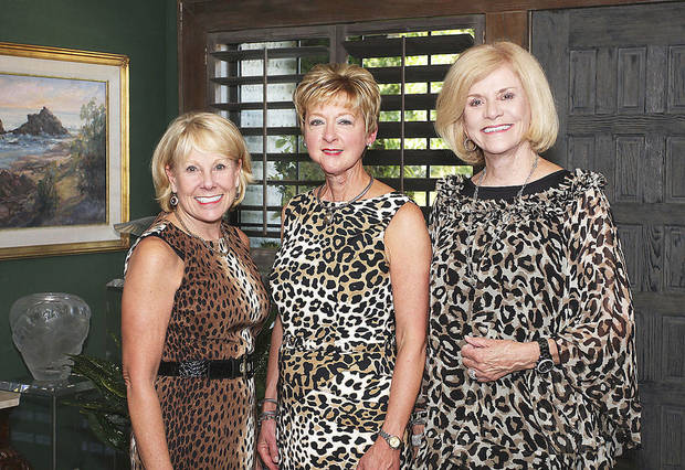 Lana Lopez, Jane Thompson, Judy Love.  Photos by David Faytinger, for the Oklahoman
