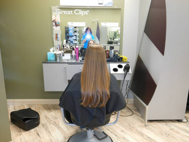 Ashley\'s Locks of Love donation for cancer survivors