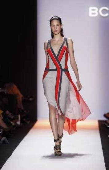 BCBGMAXAZRIA for spring 2012, shown during Fashion Week Sept. 8 in New York City. AP PHOTO