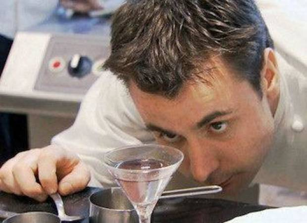 "One of chef Ferran Adria's disciples checks over a cocktail in ""El Bulli: Cooking in Progress."" Photo provided <strong></strong>"