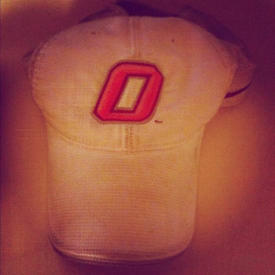 The photo Ashley DeForest posted on Twitter of her dad's OSU hat.