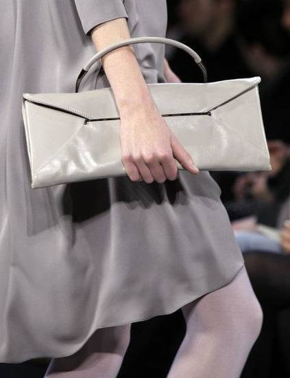 Structured handbags such as this one by Max Azria are showing up for fal.  <strong>Richard Drew - ASSOCIATED PRESS</strong>