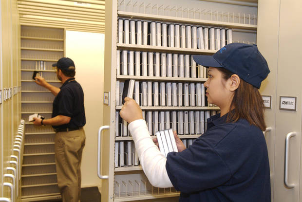 At the Federal Records Center in Fort Worth, Texas, records are scanned and preserved digitally. PHOTO BY TARA MClOUGHLIN PROVIDED. <strong></strong>