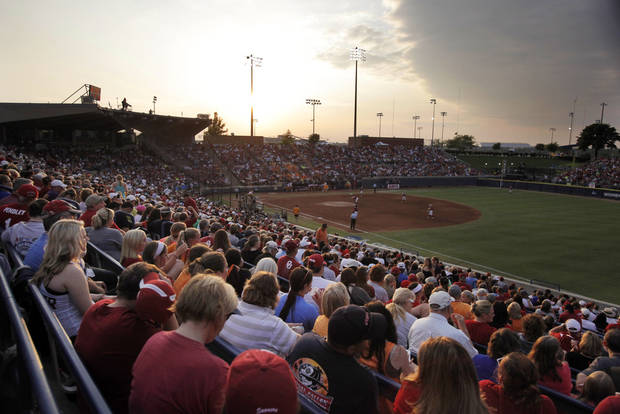 A record crowd was on site to watch Oklahoma win the WCWS Finals by defeating Tennessee 4-0 on June 4, 2013. Photo by KT KING, The Oklahoman