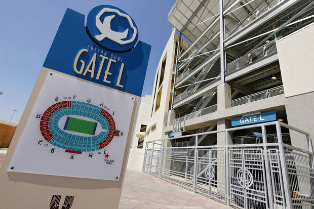 Renovations to gated entrances in the Cotton Bowl on display to the media on Wednesday, Sept 17,  2008, in Dallas, Texas.