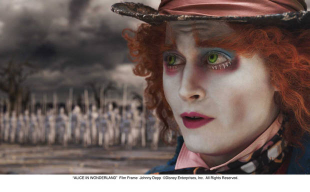 """ALICE IN WONDERLAND""  Film Frame  Johnny Depp  ©Disney Enterprises, Inc.  All Rights Reserved."