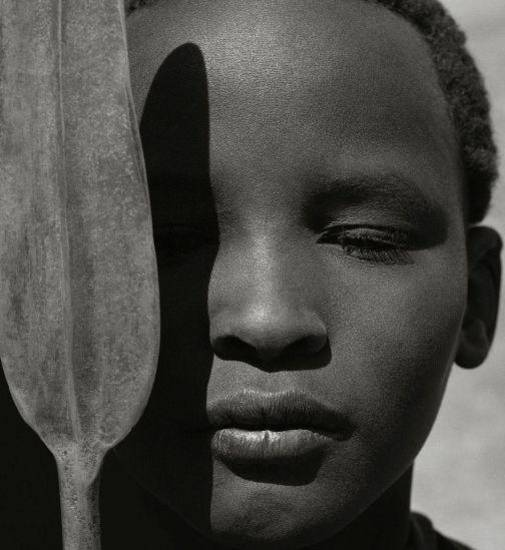 "Herb Ritts' ""Loriki with Spear, Africa,"" from 1993, is featured in the new exhibit ""Herb Ritts: Beauty and Celebrity"" at the Oklahoma City Museum of Art. Photo provided by the Herb Ritts Foundation."