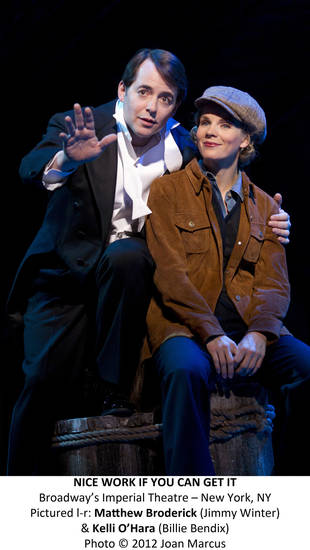 "Matthew Broderick and Kelli O'Hara in the new Gershwin musical ""Nice Work If You Can Get It""   Photo by Joan Marcus <strong>Photo by Joan Marcus</strong>"