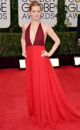 Amy Adams at the Golden Globes. AP PHOTO