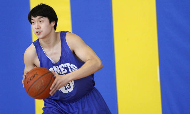 Classen School of Advanced Studies' Oliver Ting during practice in Oklahoma City, Wednesday, February  15,  2012. Photo By Steve Gooch, The Oklahoman <strong>Steve Gooch - The Oklahoman</strong>