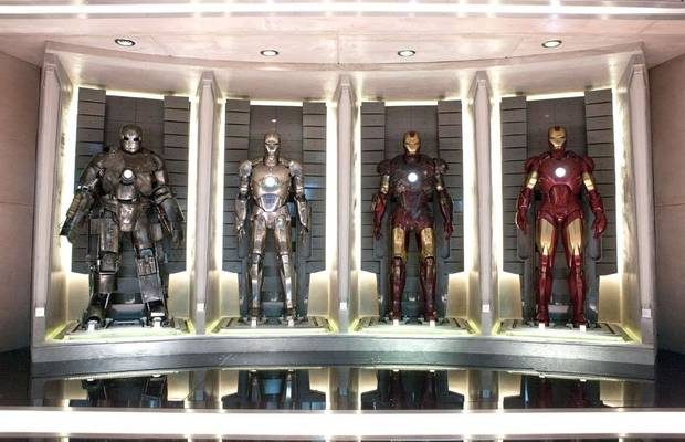 "Iron Man suits in ""Iron Man 2."""