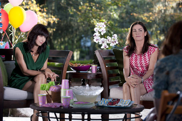 "Catherine Bell and Kim Delaney in ""Army Wives"" - Lifetime Photo"