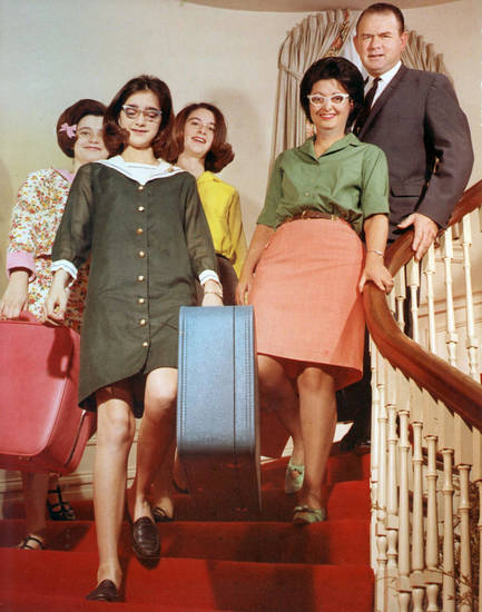 Retiring Gov. Henry and Mrs. Shirley Bellmon with daughters Gail, Ann and Pat will leave the executive mansion with last-minute luggage and a million memories. 1/6/1967