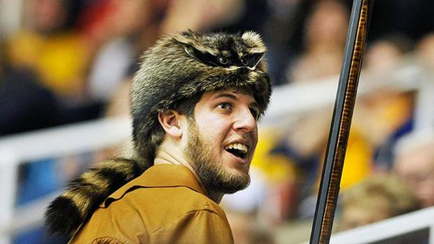Michael Garcia, West Virginia's new Mountaineer mascot.