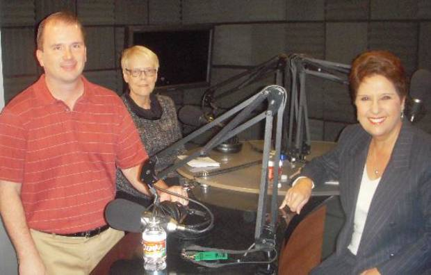 From left, Gary McManus, Marsha Slaughter and host Gerry Bonds. - Provided Photo