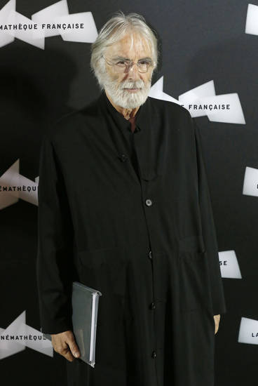 "FILE - This Oct. 15, 2012 file photo shows Austrian director Michael Haneke at the pre-premier of the movie ""Amour""  in Paris. Haneke was nominated  for an Academy Award for best director on Thursday, Jan. 10, 2013, for �Amour.�  The 85th Academy Awards will air live on Sunday, Feb. 24, 2013 on ABC.  (AP Photo/Michel Euler, file)"
