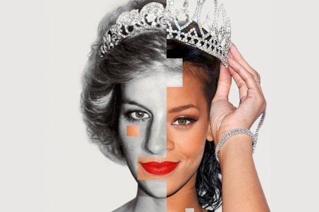 From the cover of The Sunday Times magazine in London, a story compares Rihanna to Princess Diana.