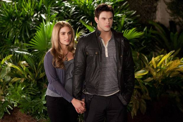 "Nikki Reed and Kellan Lutz appear in a scene from ""The Twilight Saga: Breaking Dawn - Part 2."" Summit Entertainment photo <strong></strong>"
