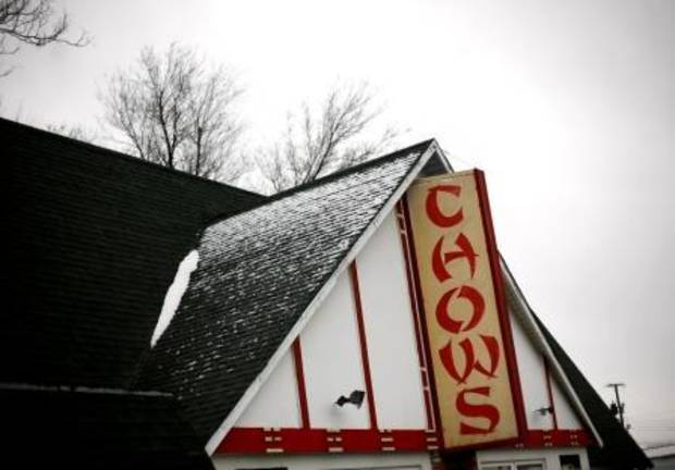 Photo by John Clanton, THE OKLAHOMAN: Chow's Chinese Restaurant opened in 1982 in an old A-frame International House of Pancakes building.