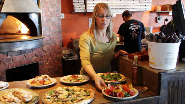 General manager Elena Farrar at The Wedge Pizzeria, 4709 N Western, works with pizzas baked in wood-fired oven and more.  Photo by Dave Morris, NewsOK.com/The Oklahoman <strong>Dave Morris</strong>