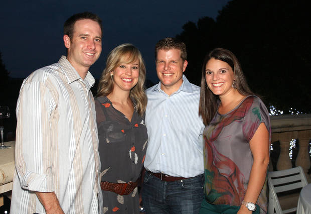 Matt and Ashley Pollock, Wade and Whitney Kovach. Photo by David Faytinger   <strong></strong>