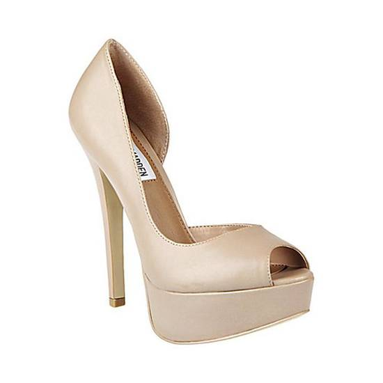 The Steve Madden Admirre pumps for $99.95 will complement your whites nicely and add a versatile colored heel to your wardrobe. (Courtesy SteveMadden.com via Los Angeles Times/MCT)