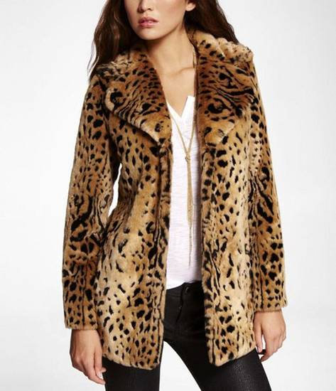 Vanessa Hudgens is taking more adult roles but keeping her youthful, slightly punk edge in her personal style. Get her look with this faux leopard fur coat ($138.60 from Express.com). (Express.com/Los Angeles Times/MCT)