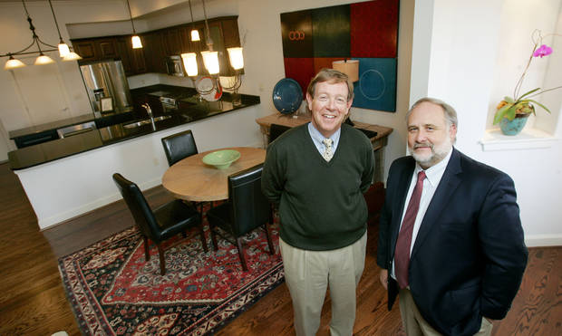 Michael Biddinger, Managing Broker and Bill Canfield, principal in The Douglass home at 216 Russell M. Perry Ave. in The Hill addition Tuesday, Nov. 11, 2008 in OKC. BY JACONNA AGUIRRE, THE OKLAHOMAN