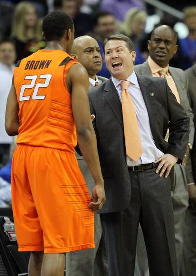 Markel Brown figures to get the call to slow UT's J'Covan Brown. It's a key matchup, if the Longhorn is healthy.