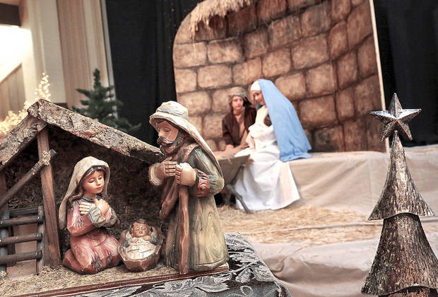 "More than 600 depictions of the Nativity scene, in a wide variety of media and sizes, featuring a number from around the world, are displayed throughout the  Church of Jesus Christ of Latter-day Saints, 5020 NW 63,  through Sunday.  The display is called ""Glory to the Newborn King, a Nativity Display and Cantata""  The musical program includes an hour of traditional and cherished Christmas carols, according to church officials. Photo by Jim Beckel, The Oklahoman"