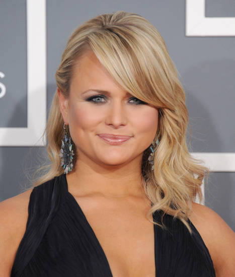 Miranda Lambert arrives at the 55th annual Grammy Awards on Sunday, Feb. 10, 2013, in Los Angeles.  (Photo by Jordan Strauss/Invision/AP) ORG XMIT: CADC267
