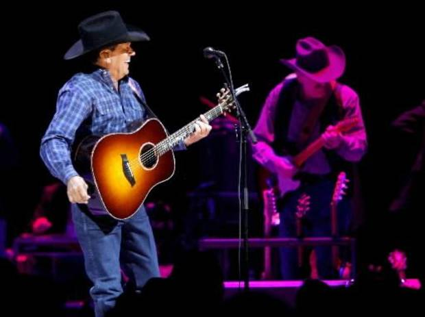 George Strait performs during a concert at the Oklahoma City Arena on Saturday, Jan. 15, 2011. Photo by Bryan Terry, The Oklahoman Archives