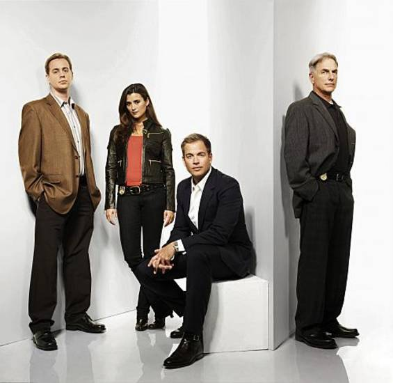 NCIS--From right to left: Mark Harmon, Michael Weatherly, Cote de Pablo & Sean Murray of the CBS series NCIS. Photo: Art Streiber/CBS ©2008 CBS Broadcasting Inc.  All Rights Reserved.
