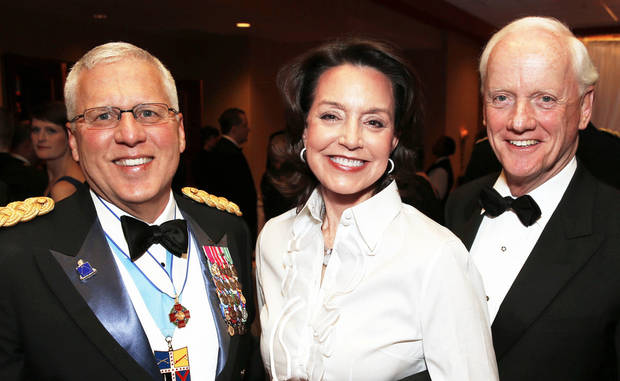 Maj. Gen. Miles Deering, Cathy and Frank Keating.