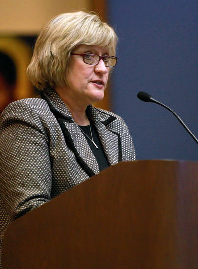 Chief Academic Officer Cindy Schmidt speaks during a meeting of the Oklahoma City Public Schools school board in Oklahoma City on Monday, Dec. 13, 2010. Photo by John Clanton, The Oklahoman ORG XMIT: KOD